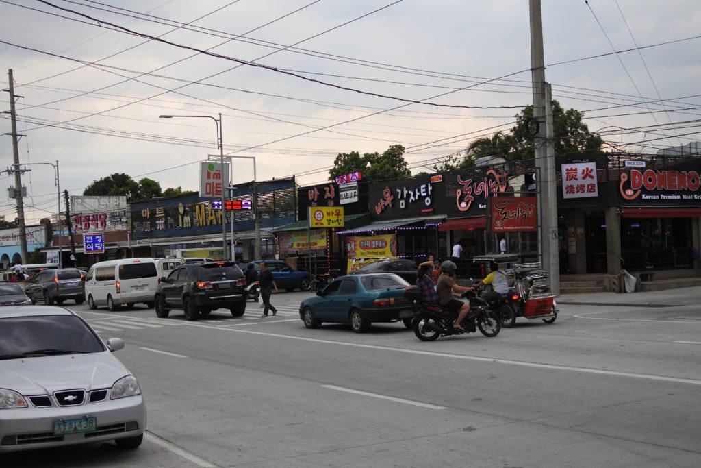 フィリピンのコリアンタウンフレンドシップの街並み