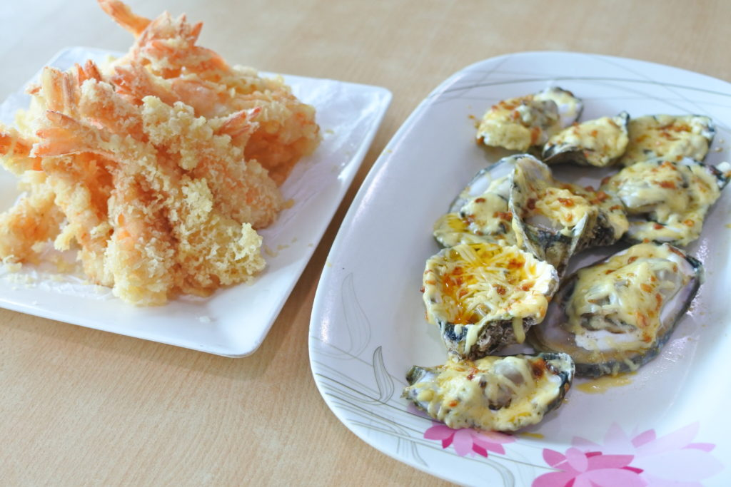 天ぷらと下記料理