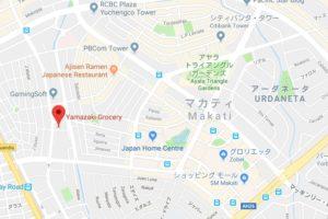 Yamazakiのグーグルマップ位置