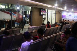 Partasバス会社のパサイバスターミナル待合室