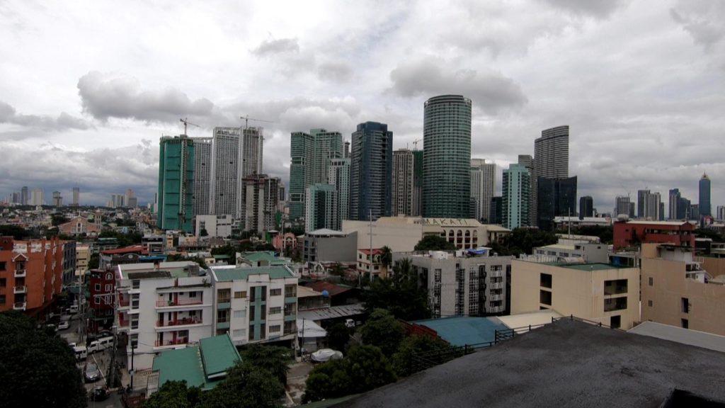Zホステル屋上から見るマカティ中心部