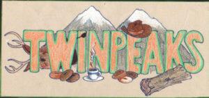 Twin Peaksとふたつの山が書かれたイラスト