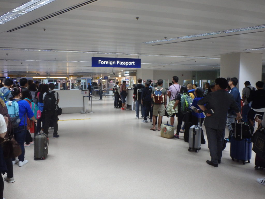 マニラ国際空港ターミナル1の入国審査窓口