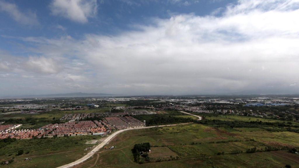 上空から見るラグーナ湖