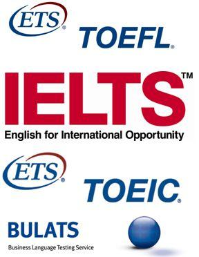 IELTSとTOEFLとTOEICのロゴ