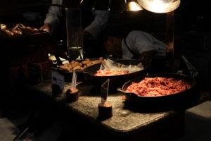 ベーコンなどの肉コーナー