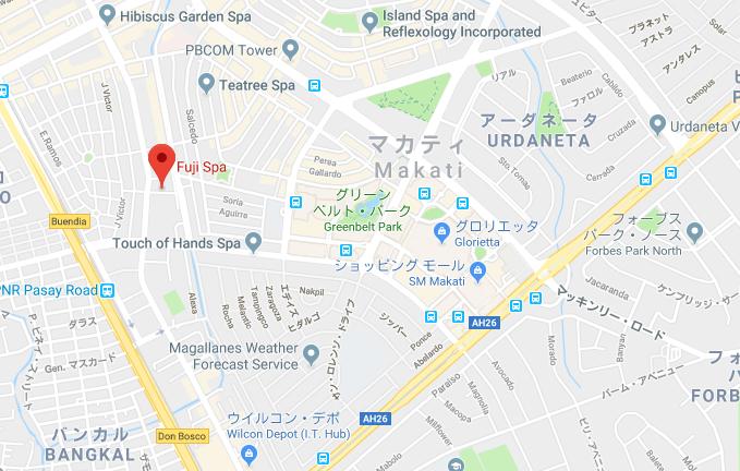 サウナ富士のグーグルマップ
