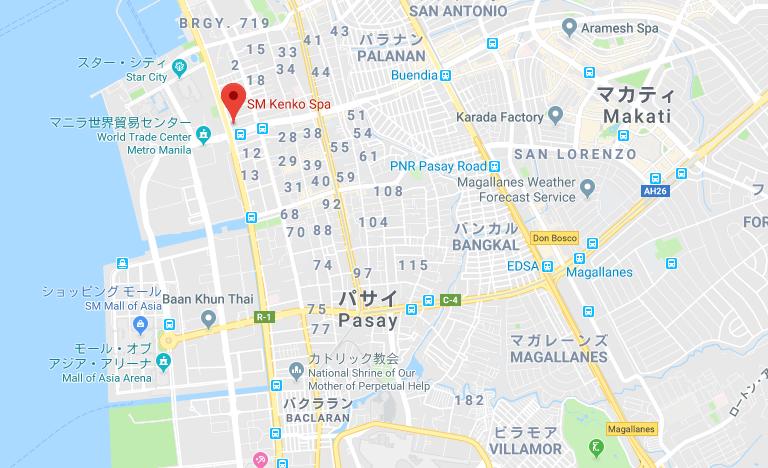 SM健康スパのグーグルマップ