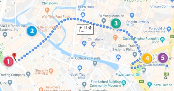 オンピン通りグーグルマップ