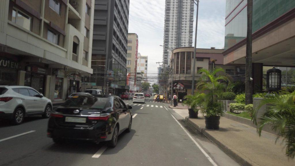パンパシフィックホテルとアドリアティコ通り