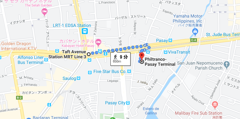 フィルトランコを示すグーグルマップ